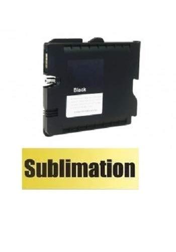 SUBLIMATION Druckerpatrone, Tintenpatrone wie Ricoh GC-41 black für Aficio SG 3100, snw, 3110 dn, dnw, n, SFNw, 3120 B SF, B SFN, B SFNw, 7100 dn mit Sublimationstinte befüllt