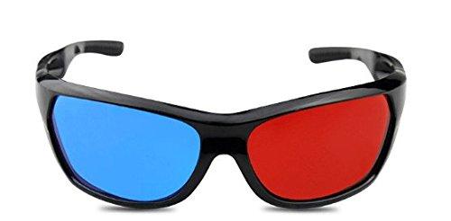 Gafas 3D rojo / cian (gafas anaglifo 3D) gafas 3D de calidad para juegos de PC en 3D, imágenes en 3D, películas en 3D, 3D (por ejemplo, Sky 3D), la proyección en 3D, la marca de vídeo 3D PRECORN