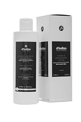 D'Bullón Loción Hidratante Tonificante, Solución sin Alcohol con Aloe Vera Ecológico. Tónico facial - 250 ml