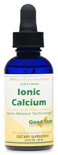 Good State | Ionic Calcium | Natural | Liquid Concentrate | Nano Sized Mineral Technology | Professional Grade | 10 Drops Equals 50 mg | 1.6 Fl oz Bottle