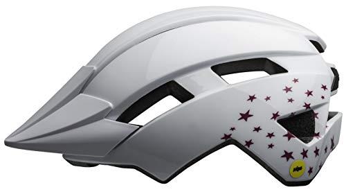 Bell Unisex Jugend Sidetrack II Mips Fahrradhelm Kids, white stars, Einheitsgröße