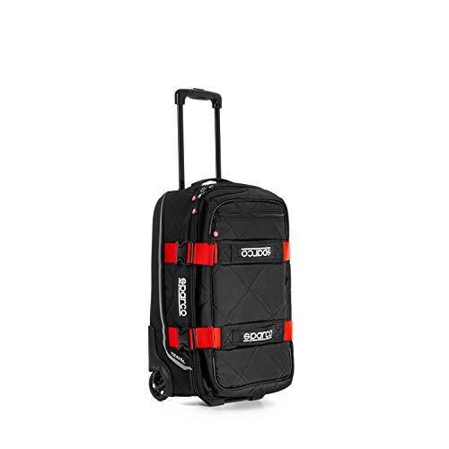 Sparco S016438NRRS Travel Bag, Black/Red