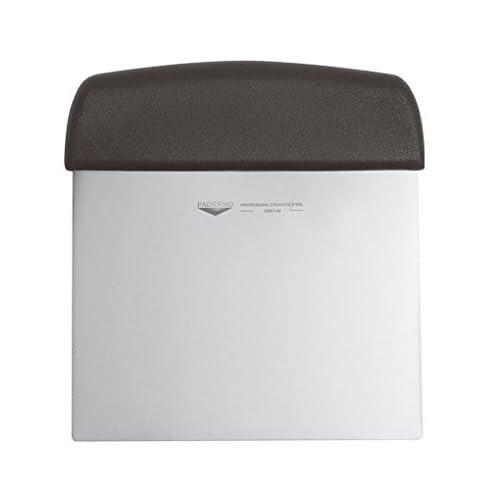 Paderno 18501-02 Tagliapasta Flessibile – Raschietto tagliapasta professionale con manico, lama in acciaio inox, manico in polipropilene, 12 cm x 9,5 cm