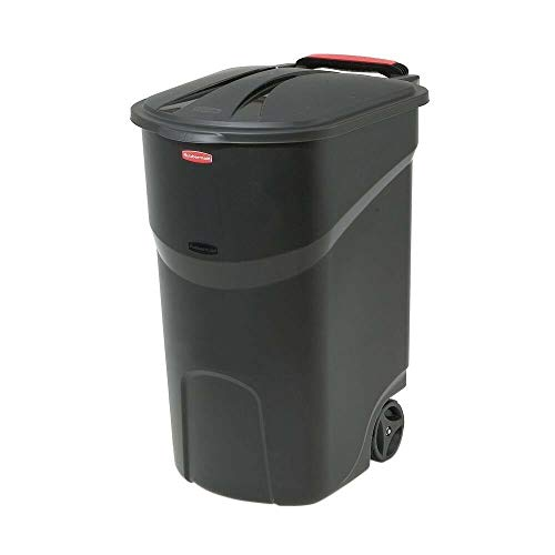 Snow Shop Everything 45 Gallon Wheeled Trash Can Lid Garbage Container Outdoor Waste Bin Basket Wheel