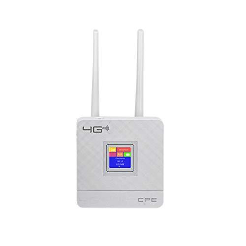Router inalámbrico de Apoyo 4G LTE de Banda Dual a 150 Mbps Router WiFi Tarjeta SIM con Antena Enchufe de la UE