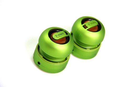 X-MINI XAM15 4W Verde - Altavoces portátiles (4 W, 60-20000 Hz, 91 dB, 1%, Alámbrico, Verde)