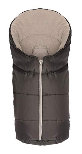Fillikid Winterfußsack Eco Exclusiv/Fußsack Universal für Babyschale, Autositz/Fußsack für Kinderwagen, Buggy oder Babybett, Design:grau