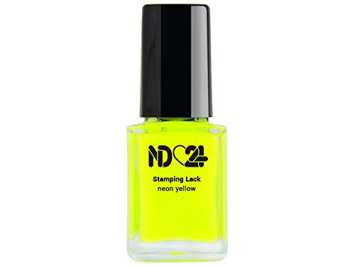Stamping Nagellack Lack Neon Yellow - Gelb - Hochpigmentiert - Made In Germany - 12ml