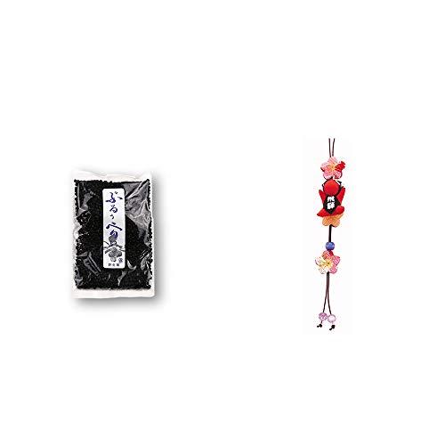 [2点セット] 野生種ぶるぅべりぃ(260g)・豆さるぼぼ 和風ストラップ【赤】 / 縁結び・魔除け //