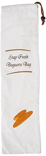 G S D Haushaltsgeräte Aufbewahrungsbeutel für Baguette, Kunststoff, weiß, 70 x 3 x 19 cm