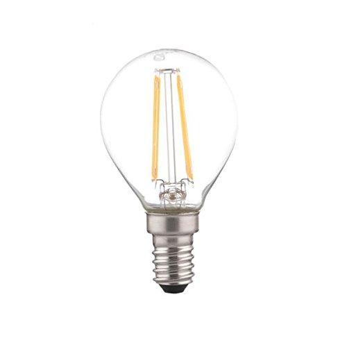 Nilox LED Bulb E14 2700 K Glass, 3.7 W, Blanc