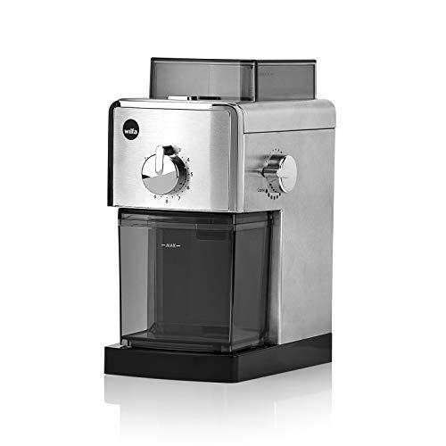 Wilfa IL SOLITO kaffekvarn - bönbehållare med en kapacitet på 180gr, utrustad med en automatisk stopp-funktion, silver