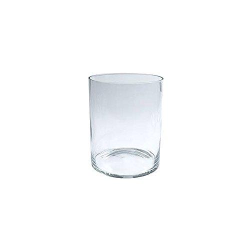Jodeco Deko Glas Vase Zylinder Tour H. 25cm D. 20cm rund transparent klar