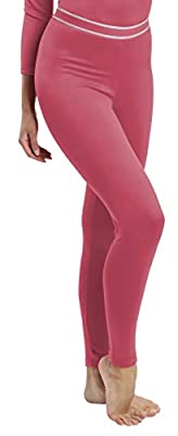 Rocky Women's Fleece Lined Thermal Bottoms Long Underwear Baselayer Pants Legging Mauve Pink