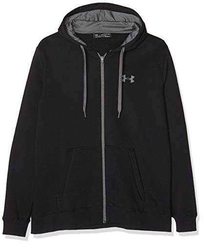Under Armour Herren Oberteil Rival Fitted Full Zip, Schwarz, XL, 1302290-001