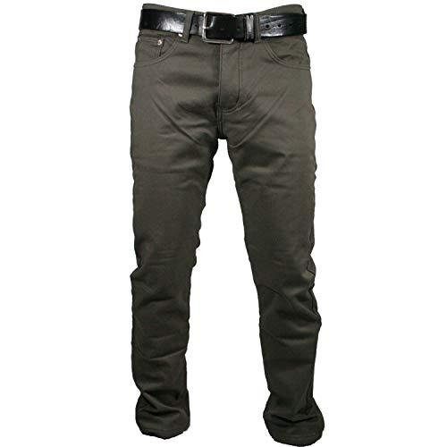 Mastino - Pantalone Uomo Felpato Imbottito Pile Termico Foderato Caldo Inverno Elastico Regular Fit da46 a 64 (50 - Noce)