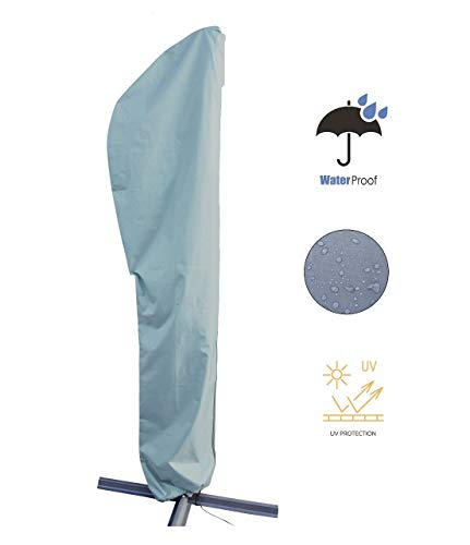 Kingsbridge Parasol Cover Waterproof-600D Heavy Duty Fabric, Fits up to 3M Cantilever Parasols Garden Umbrella Cover
