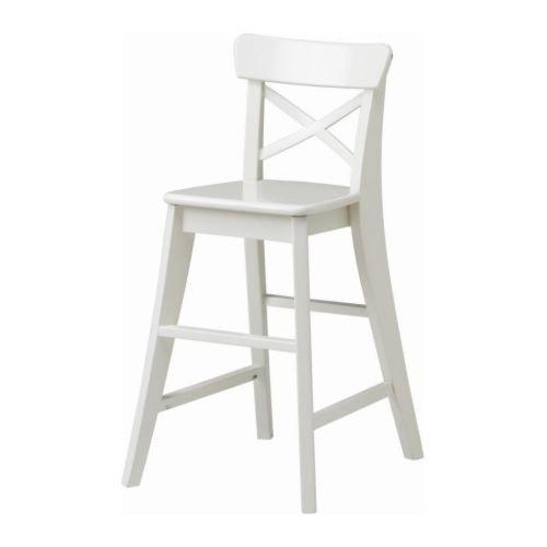 IKEA INGOLF Kinderhochstuhl in weiß; aus Massivholz
