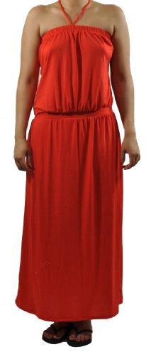 COOGI Women's Orange Halter Top Dress (S)