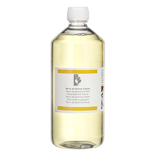 Lienzos Levante Barniz de Dammar Brillante, Botella de 1.000 ml