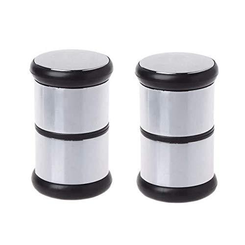 YUANQIAN 2 Stks Enkele gat Rond gevormde kunststof douchecabine schuifdeurgreep voor 4-6mm Glas Gat Interieur Deurknop Grootte 6.8 * 3.9cm