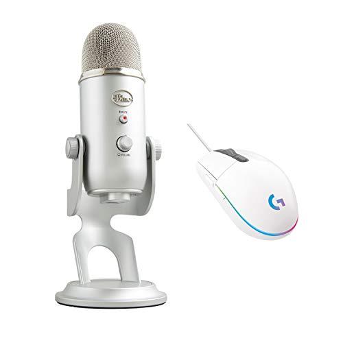Blue Microphones Yeti, Micro USB pour Enregistrer et Diffuser sur PC et Mac + Logitech G203 LIGHTSYNC Souris Gaming avec Éclairage RVB Personnalisable, 6 Boutons Programmables, Capteur Niveau Gaming
