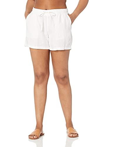 Amazon Essentials 5' Drawstring Linen Short Pantalones cortos informales, blanco, XL