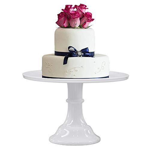 KLASKWARE Round Cake Stand Purple 11' Melamine Cake Display Stand Dessert Cupcake Display Tray for Christmas,Graduation,Wedding,Birthday,Party,Baby Shower,Anniversary,Ceremony