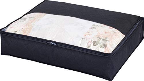 アストロ 羽毛布団 収納袋 シングル用 黒 不織布 活性炭消臭 コンパクト 617-50