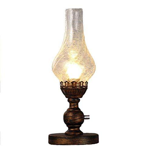 WPCBAA dimmer Europese ijzeren tafellamp E27 lamp petroleumlamp slaapkamer bedlampje dimmen fotografie rekwisieten