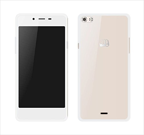 Case Creation Ultra Thin Corner Protection Cover Guard TPU Slim Back Case Back Cover for Micromax Canvas Sliver 5 Q450 (Clear)