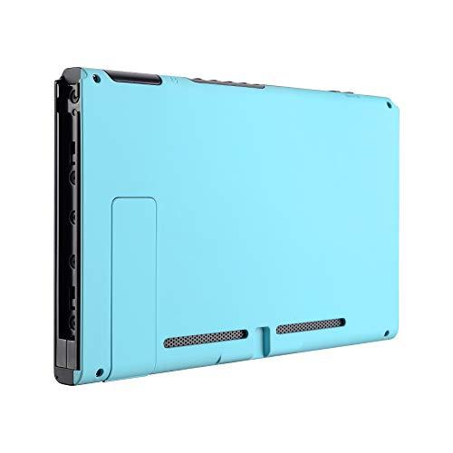 eXtremeRate Hülle für Nintendo Switch,Case Rückseites Gehäuse Hülle Schale Cover Schutzhülle Tasche Set für Nintendo Switch Console mit Ständer(Himmelsblau)-Keine JoyCon Hülle