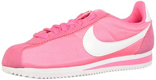 Nike Wmns Classic Cortez Nylon, Zapatillas Mujer, Multicolor Laser Pink White 608, 40 EU