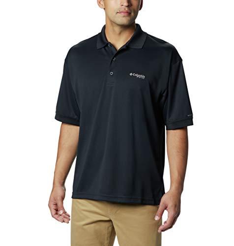Columbia Men's Perfect Cast Polo Shirt, Black, 4X