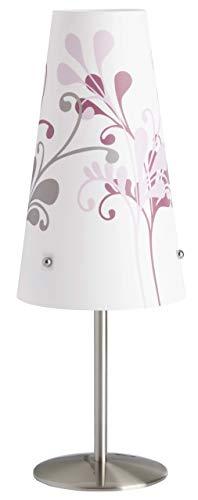 Brilliant 02747/78 Lampe à Poser ISI E14 Motif Lilas