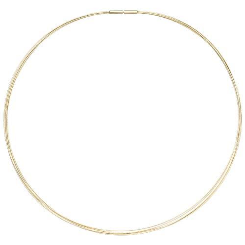 JOBO Damen Halsreif 5-reihig 585 Gold Gelbgold 42 cm Goldkette Goldreif