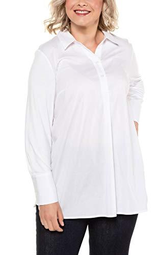Ulla Popken Damen Longtunika Hemd, Weiß (Weiss 20), (Herstellergröße: 46+)