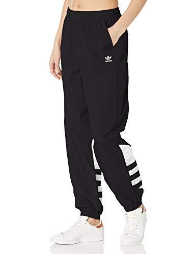 adidas Originals Women's Large Logo Track Pants, Black/White, XL