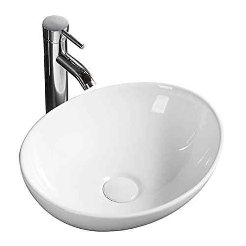 Moderno lavabo ovalado para baño de 400 x 330 x 145 mm