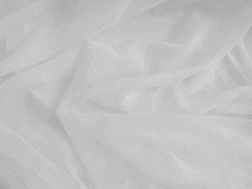 eventkauf Voile Stoff Meterware am Stück 280 cm Breit (Weiß)