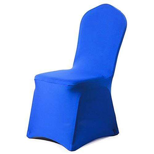 ASVNDD Sitzbezüge Komfortable, Knitterfeste Spandex-Stuhlhaube Abnehmbare Stretch-Esszimmer-Bankettstuhlbezüge Startseite (Color : Navy Blue, Specification : Picture Shows)