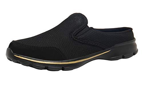 ChayChax Zoccoli Sabot Donna Uomo Leggero Traspiranti Pantofole da Casa Casual Ciabatte Moda Antiscivolo,Nero A,39 EU