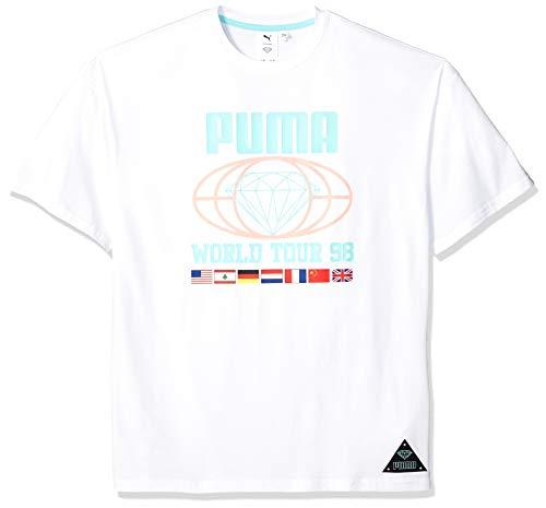 PUMA X Diamond tee Camiseta, Blanco White, XL para Hombre