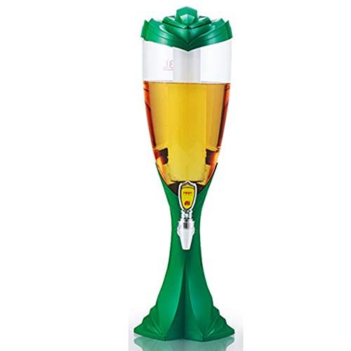Dispensador De Cerveza, Dispensador De Bebidas 2l, Barril De Cerveza con Grifo, Tubo De Hielo Independiente, ReunióN Familiar, Accesorios De Bar