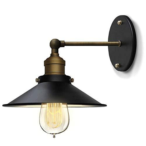 RUINAIER Iluminación de Pared Ligera para Sala de Estar. Ajustable de Metal de Pared Ligera de la Pared Interruptor de botón de Pared Ligera for Baño Comedor Cocina Dormitorio (Negro Claro)