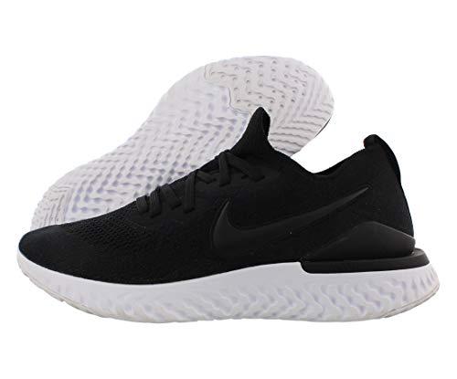 Nike Men's Epic React Flyknit 2 Running Shoe (10, Black/Black-White)