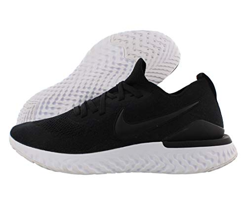 Nike Men's Epic React Flyknit Running Shoes, Black/Gunsmoke, 11