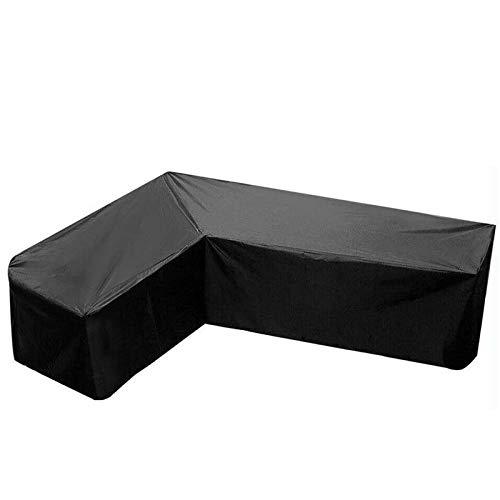 Fablcrew Housse de Protection Canapé d'angle Extérieur,Housse de Canapé de Jardin en Forme de L,Couverture de Protection de Meubles Canapé Extérieur Imperméable Anti-UV Anti-poussière