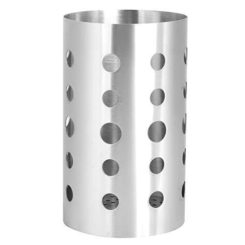 Soporte para utensilios de cocina, soporte para palillos de acero inoxidable, soporte para utensilios para cubiertos, estante de secado, carrito para cubiertos