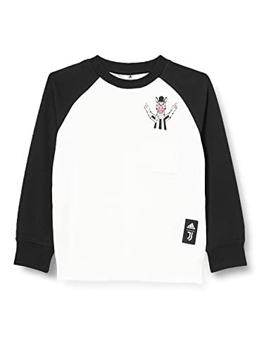 adidas JUVE Kids CRSWT Sweatshirt, Black/White, 1314 Boys